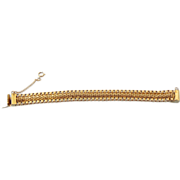 REDUCED Golden Woven Sturdy & Well Made Bracelet With Safety!