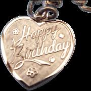 REDUCED LaMode Sterling Silver Charm Bracelet, Happy Birthday Charm!