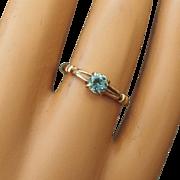 REDUCED Sweet Early Century 10k Rose Gold Gemstone Ring, Size 6!