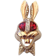 "SALE 1960s Unsigned ""Karu 5th Avenue"" Figural Rabbit Brooch!"