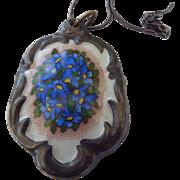 SALE Schlottenhaf Arzberg Bavaria Painted Porcelain Pendant Necklace!