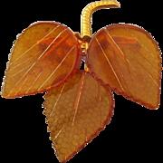 SALE Hallmarked Natural Baltic Amber Pin, Mid-Century Beautiful Vintage Treasure!