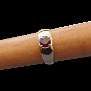 SALE Elegant 10k Yellow Gold and Garnet Gemstone Ring, Size 9!
