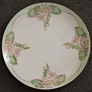 Art Nouveau French  Limoges Water Lillies Charger -1905