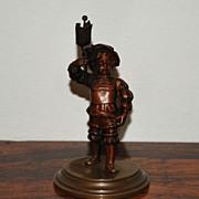 SALE Miniature Dutch Bronze of a Boy in Uniform, c. 1910