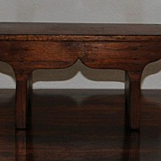Country French Miniature Walnut  Foot Stool