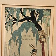 """SALE Art Deco """"L'amant poete"""",illustration by George Bardier"""