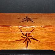 Fancy Inlaid Oak Jewelry Box, c. 1915