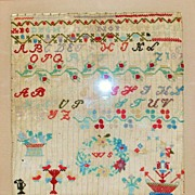 Fancy American Alphabet Sampler, Dated 1867