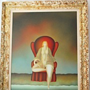 "SALE Russian ""Nude Woman"" Painting - Igor Galanin"