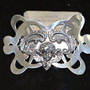SALE Large Art Nouveau Sterling Brooch by Unger Bros.