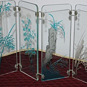 Japanese Glass Table Screen