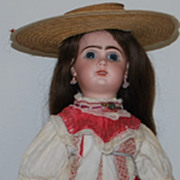 French Bisque Bebe Jumeau Walker Doll