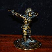 "SALE French Miniature Bronze ""The Duelist"",c.1870"