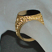SALE Fine 14K Gold Signet Ring