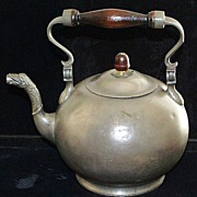 SALE Dutch Pewter Teapot,c.1814