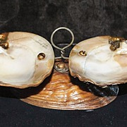 SALE Early Victorian Atlantic City Shell  Bowls, c. 1870
