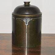 SALE Heintz Arts & Crafts Sterling On Bronze Humidor, 1912
