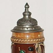 German Stoneware  1/2L Covered Stein - Thewalt, c. 1900