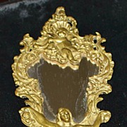 SALE Italian Art Nouveau Hand Mirror with Nude Handle