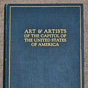 Book: Art & Artists of the Capitol of USA, Published 1927