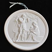 """Royal Copenhagen Bisque Porcelain Plaque -""""Enere"""""""
