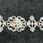 Fine Old Peruzzi Sterling Silver  Mask Bracelet, c. 1910