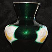 Japanese Ando Jubei Open Work Cloisonne Vase