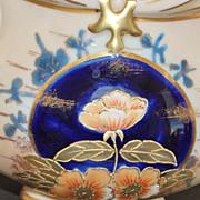 Bohemian Hp Porcelain Basket Vase, c. 1895