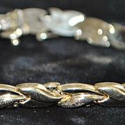 10K Interlocking Link Gold Bracelet