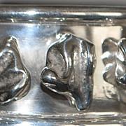 Sterling Silver Large Heavy Nugget Bangle Bracelet