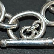 Classic Large John Hardy Sterling Toggle Bracelet