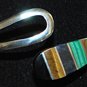 Designer Taxco Sterling Silver Clamper Bangle - 1980's