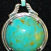 Art Deco Turquoise and Enamel Necklace - 1930's