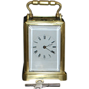 French Miniature Brass Carriage Clock - 1890