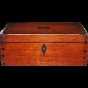 Rosewood and Mahogany Jewelry Box, c. 1845