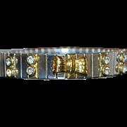 Italian Sterling Silver Expandable Bracelet - 1980's
