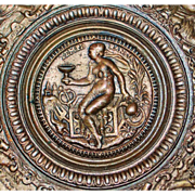 French Bronze Grand Tour Wall Plaque - 1880's