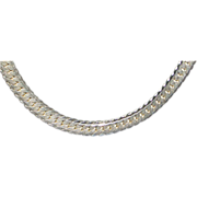 """Heavy 24"""" Sterling Silver Necklace Chain = 1980's"""