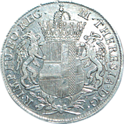 Maria Theresa Silver Convention Thaler Coin - 1766