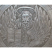 Dutch 19th Century Pewter Engraved Plate