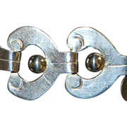 Mexican Hand  Made Silver Bracelet - 1940