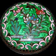 Chinese Art Nouveau Cloisonne Box - 1890