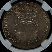German 32 Schilling - Lubeck - 1748 - jjj - NGC - AU53