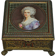 French Gild Bronze Portrait Table Box - Signed Perrin - 1860