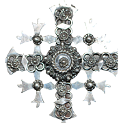 Mexican Taxco Sterling Hand Made Cross - 1960's