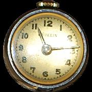 Swiss Lady's Gubelin Silver Orb Ball Pendant Watch - 1920's