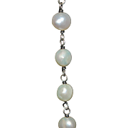 Sterling Silver and Fresh Water Pearl Necklace - 1980's