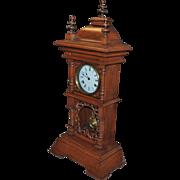 Large Fancy German Table or Shelf 8- Day Striking Clock - 1900