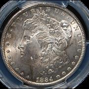 Morgan Silver Dollar - 1884 - Carson City - MS63 - Slabbed